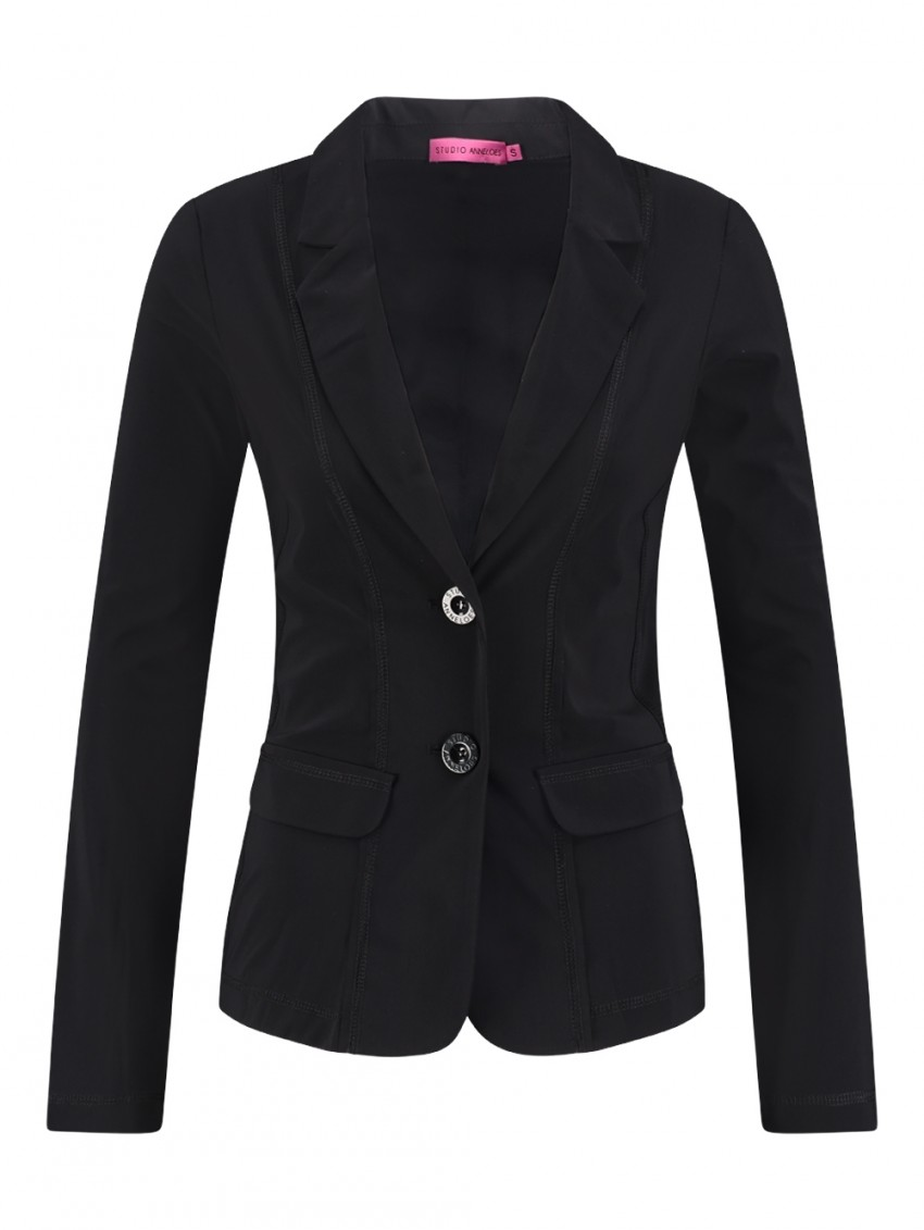 Studio Anneloes Clear Blazer Black