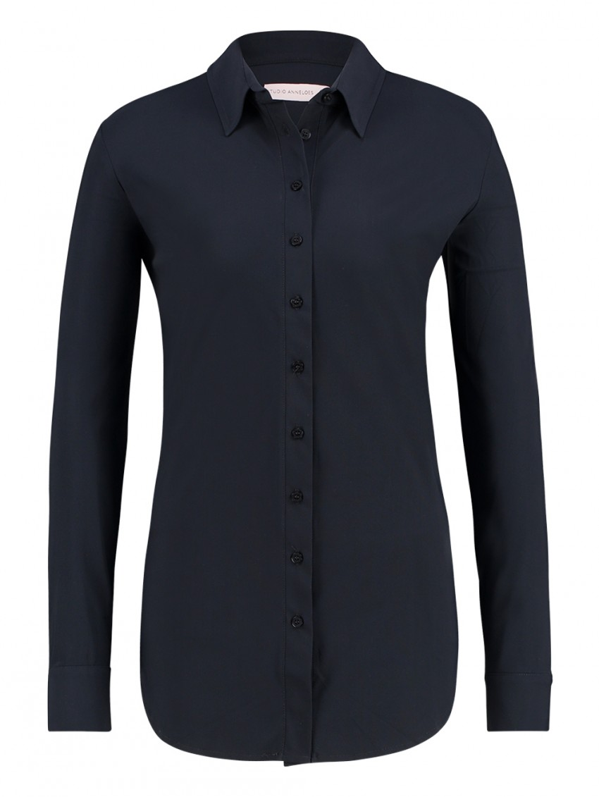 Studio Anneloes Poppy Blouse Dark Blue