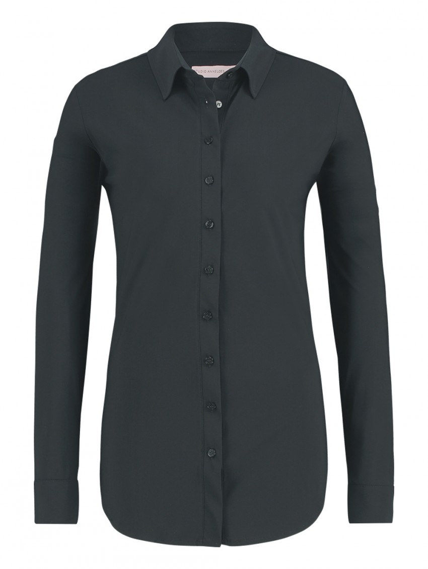 Studio Anneloes Poppy Blouse Dark Grey