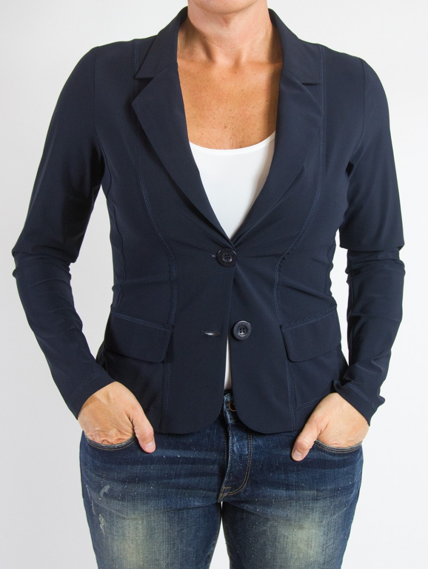 Studio Anneloes blazer Clear Dark Blue
