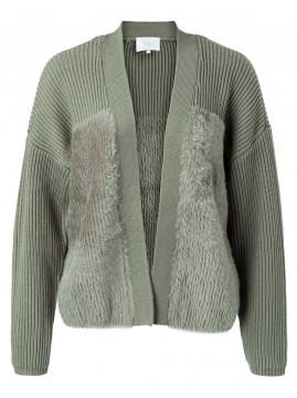 YAYA Faux fur Cardigan