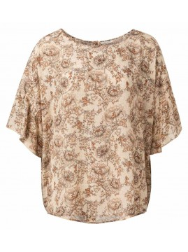 YAYA Printed top with Ruffles