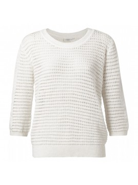 YAYA Structure Knitted Sweater