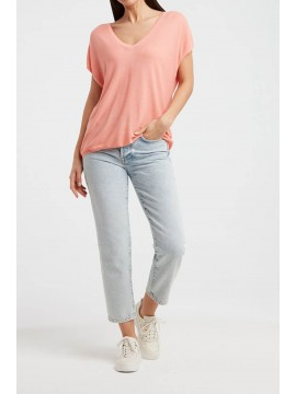 YAYA V-Neck silk blend Sweater