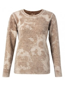 YAYA Sweater with inside out print