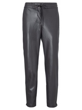 YAYA Faux Leather Relaxed Fit Trousers