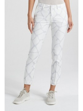 YAYA Slim fit trousers with Print