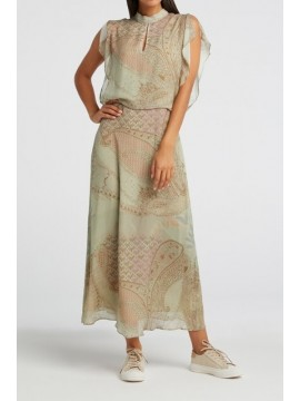 YAYA Printed High Neck Dress