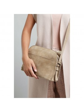 YAYA Suede/Leather Crossbody Bag