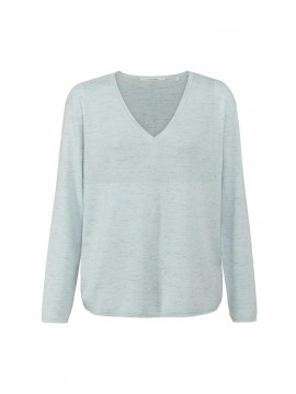 YAYA V-Neck Sweater with Buttons